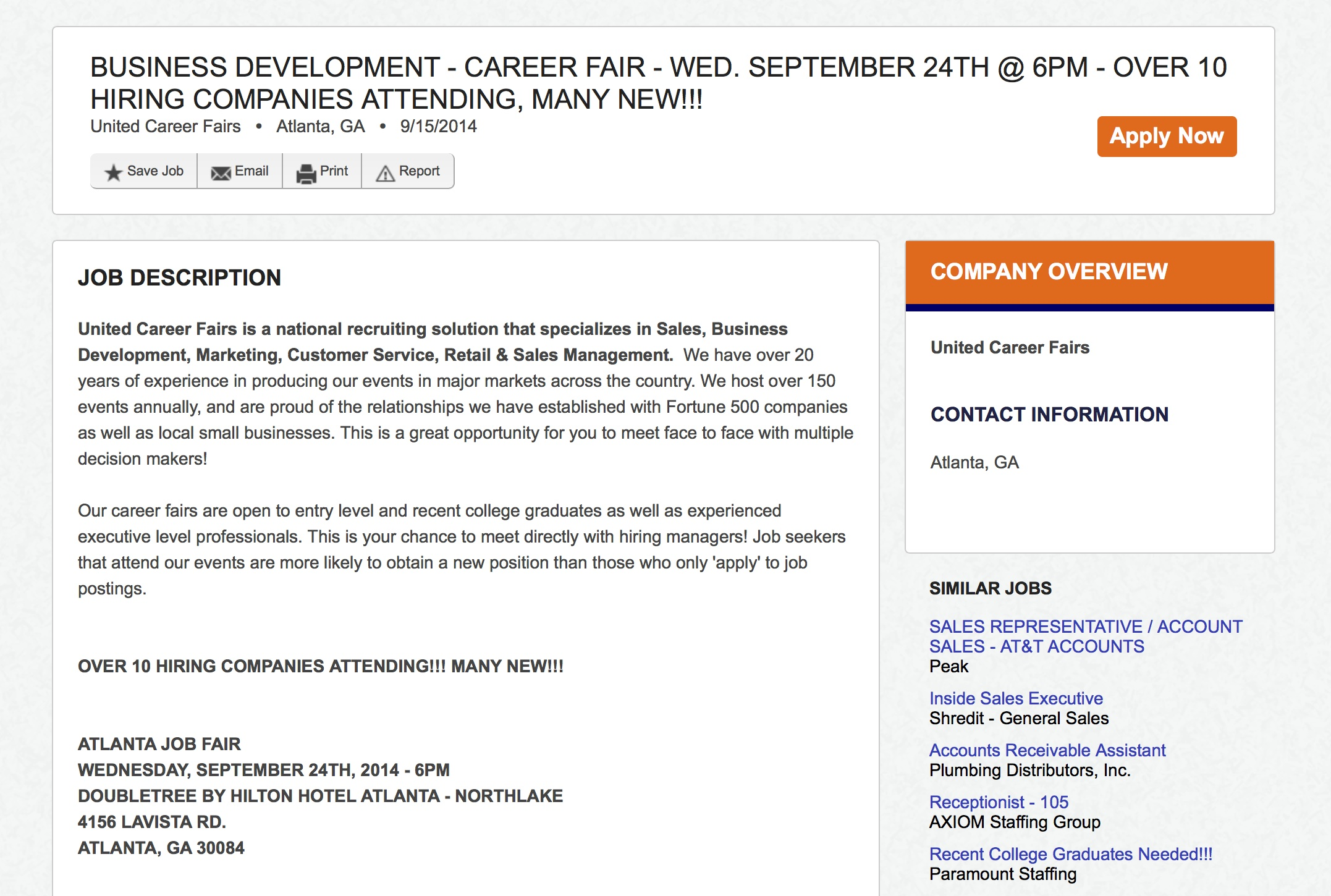 companies lure unemployed misleading claims strategic united career fair is offering the same solicitation on careerbuilder com for a similarly vague